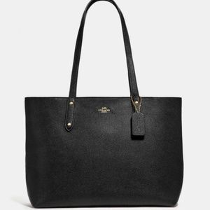 Coach Black Tote With Zip